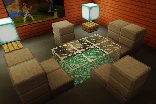 Minecraft Dining and Living Room Furniture