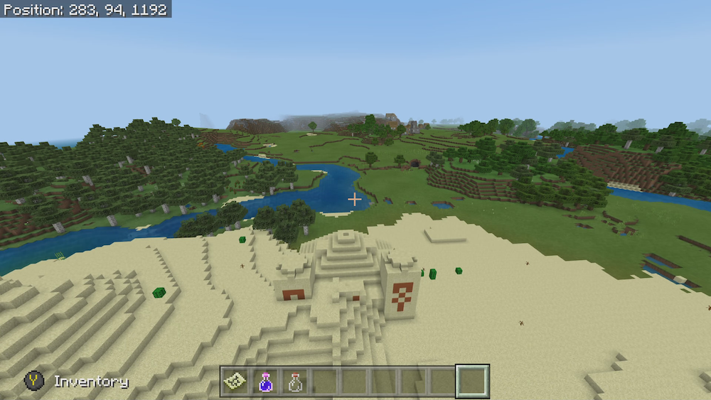 minecraft seed for desert temple