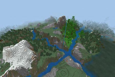 MinecraftBedrockAllBiomesjungletaigaSeedDec72019-Spawn.jpg