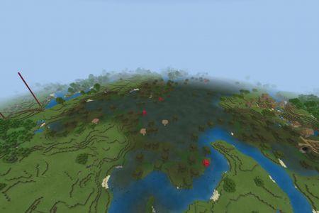 MinecraftBedrockAllBiomesSwampTaigaSeedAUG2019-Spawn2.jpg