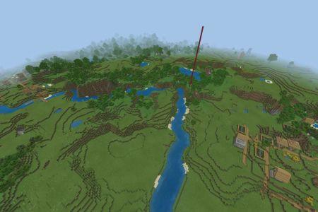MinecraftBedrockVillageSeedAPR112020-Spawn.jpg