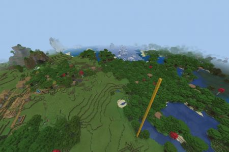 3VillagesSeedMinecraftBedrock-Spawn.jpg