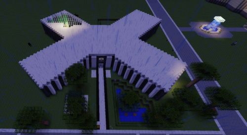 Minecraft X Shaped House