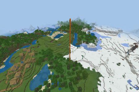 MinecraftBedrockSnowyTundraSeedAUG2020-Spawn.jpg