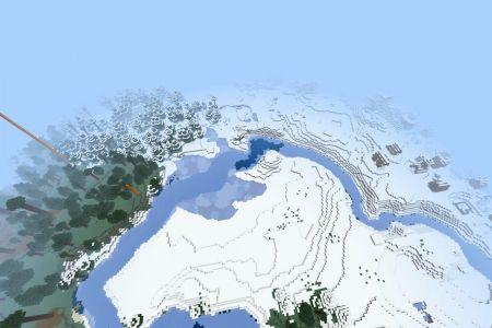MinecraftBedrockSnowySeedDEC2020-Spawn.jpg