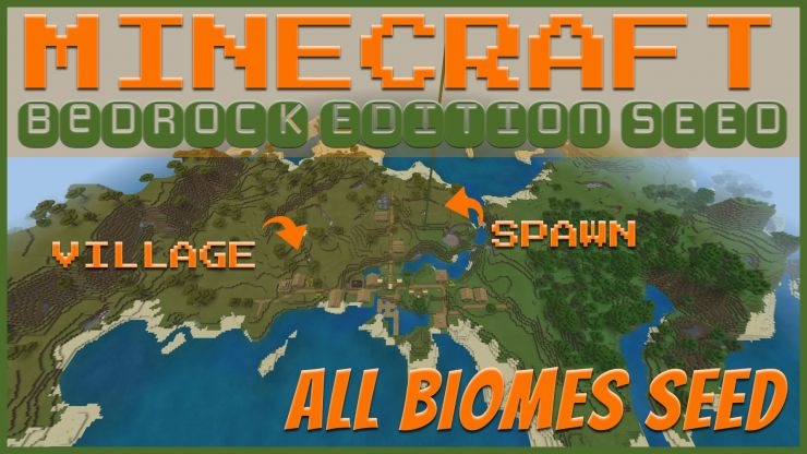 All Biomes Village Spawn Seed JUL 2019