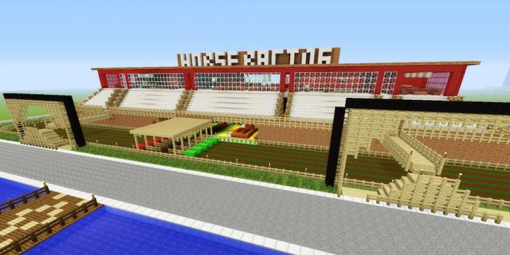 Minecraft Horse Race Track