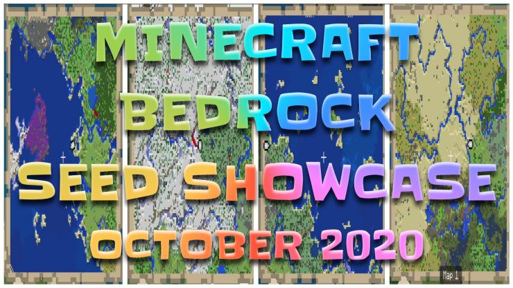 Minecraft Bedrock Seed Showcase OCT 2020 photos and seed information
