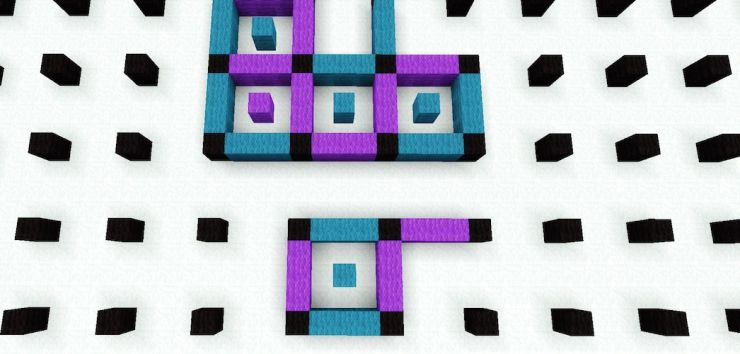 Minecraft dots game