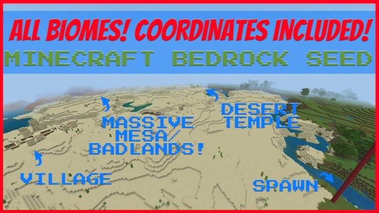 All Biomes Minecraft Bedrock Seeds