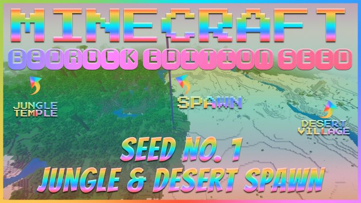 Jungle and desert spawn seed for Minecraft Bedrock Seed Showcase Sep 2019