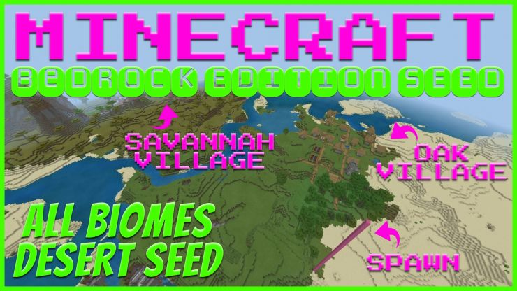 Minecraft Bedrock All Biomes Desert Seed AUG 2019