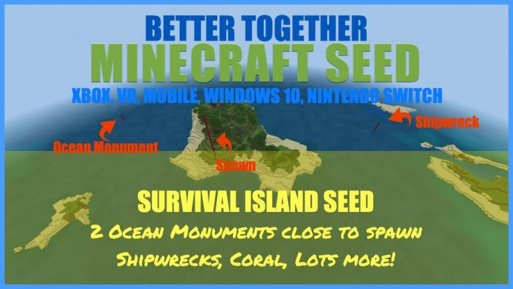2 Ocean Monuments Survival Island Seed Dec 18 2018