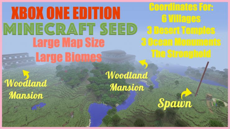 2 Woodland Mansions Village at Spawn Seed Dec 24 2018